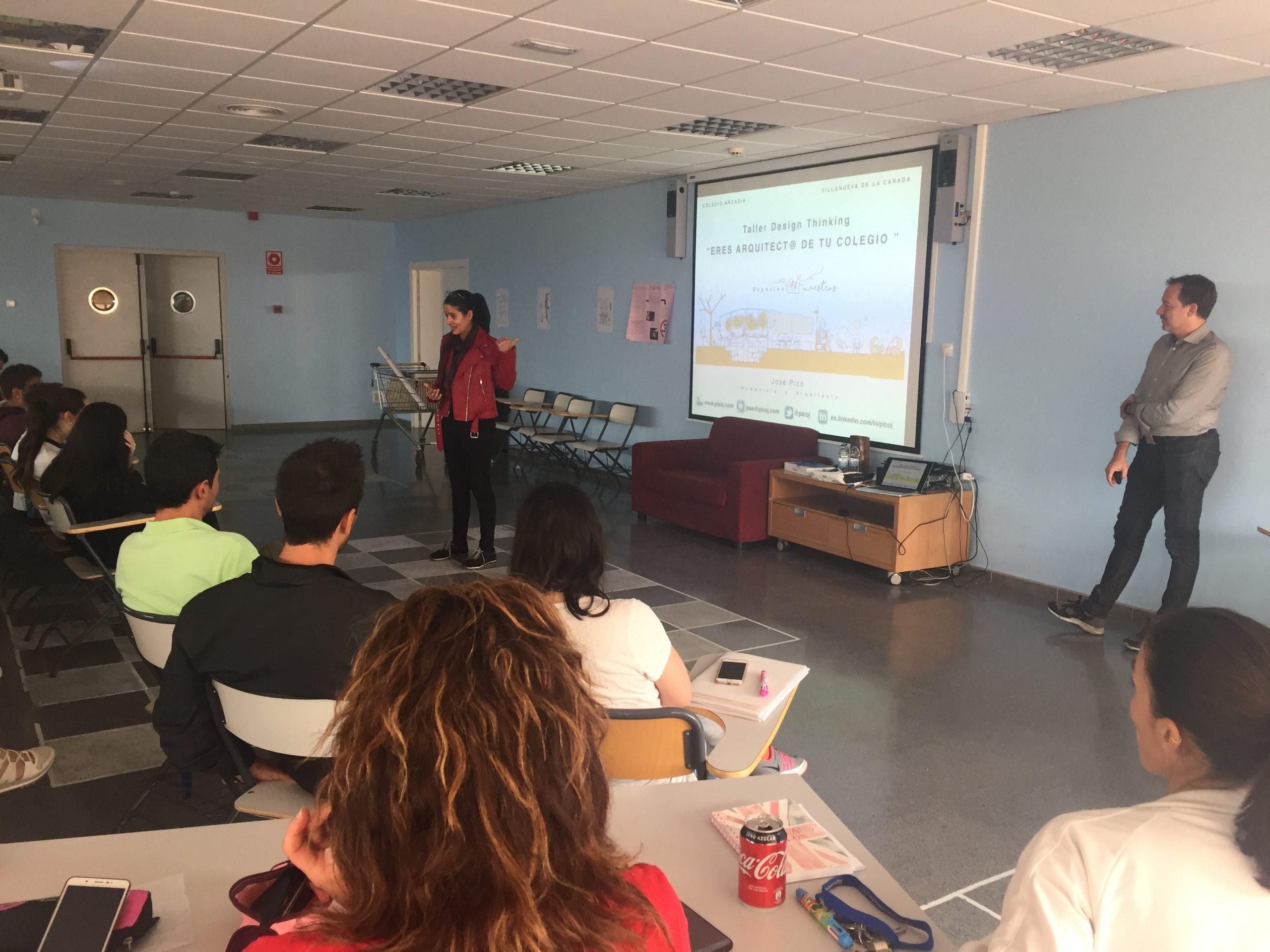 Taller design thinking con el colegio Arcadia, Madrid